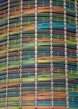 цветастая стоянка автомобилей гаража фасада Стоковые Изображения RF