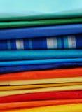 цветастая ткань бумажного стога Стоковое Изображение