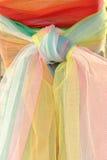 Цветастая ткань на святыне бога домочадца Стоковая Фотография