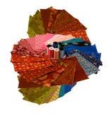 цветастая ткань придает квадратную форму yar Стоковое Фото