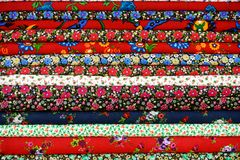 Красочная ткань стоковая фотография rf