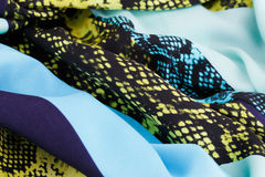 цветастая ткань Стоковое Фото