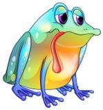 Цветастая унылая лягушка иллюстрация штока
