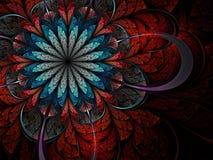 цветастая фракталь цветка Стоковые Изображения