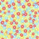 цветастая флористическая картина безшовная хаотическо Vektor Стоковые Изображения RF