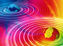 цветастая цифровая галактика Стоковые Фотографии RF