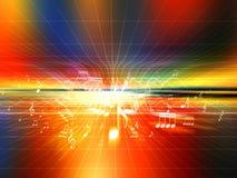 цветастая misic ударная волна Стоковое фото RF