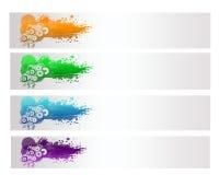 Цветастое абстрактное знамя вектора Стоковые Изображения