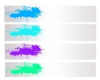 Цветастое абстрактное знамя выплеска Стоковая Фотография