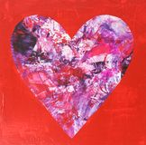 Цветастое абстрактное сердце влюбленности Стоковое Изображение RF