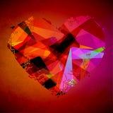 Цветастое абстрактное сердце иллюстрация вектора