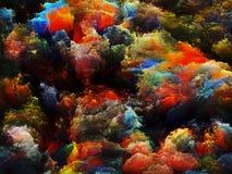Цветастое абстрактное трехмерное Стоковые Фотографии RF