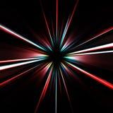 цветастое взрывающаяся звезда Стоковые Фото