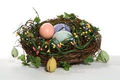 цветастое гнездй пасхи Стоковое Изображение RF