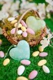Цветастое гнездй пасхи Стоковая Фотография RF