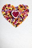 Цветастое застекленное сердце конфет Стоковое Изображение RF