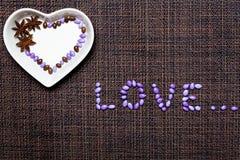Цветастое застекленное сердце конфет Стоковые Изображения RF