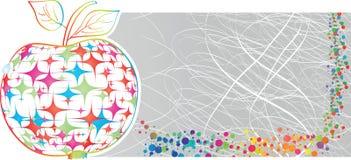 Цветастое знамя яблока иллюстрация вектора