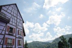 Цветастое здание - Кольмар Tropicale Стоковое Изображение