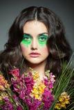Цветастое изображение девушки стоковое изображение rf