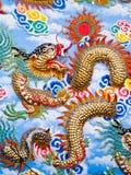 Цветастое китайское искусство дракона Стоковое Фото