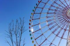цветастое колесо ferris стоковая фотография