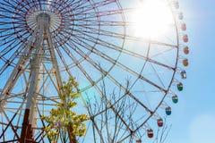 цветастое колесо ferris стоковые фотографии rf
