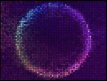 Цветастое круглое квадратное знамя вектора мозаики пиксела иллюстрация штока