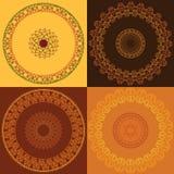 цветастое мандала конструкции Стоковое Изображение