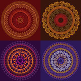 цветастое мандала хны Стоковое Фото