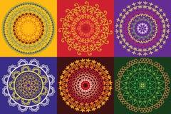 цветастое мандала хны Стоковые Изображения RF