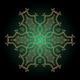 цветастое мандала цветок золотистый декоративный орнамент круглый антропологического иллюстрация вектора