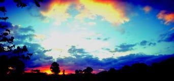 цветастое небо Стоковое Изображение RF