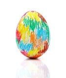 Цветастое пасхальное яйцо Стоковые Изображения