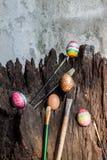 цветастое пасхальное яйцо Стоковые Изображения RF