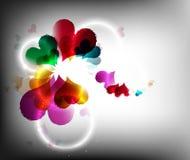 цветастое сердце Стоковая Фотография