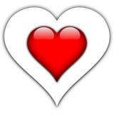 цветастое сердце иллюстрация штока
