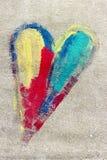 цветастое сердце Стоковые Изображения