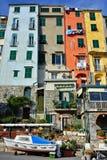 цветастое село portovenere Италии Стоковая Фотография