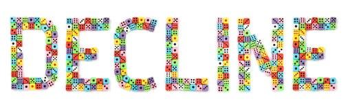 цветастое склонение dices сделанный знак стоковая фотография
