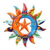 цветастое солнце луны Стоковые Фото