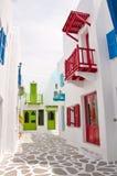 Цветастое среднеземноморское здание Стоковое Фото