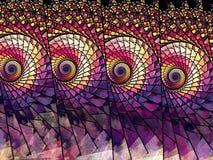 цветастое стекло запятнало Стоковое Изображение