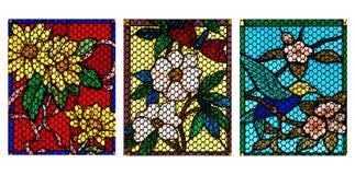 цветастое стекло конструкции Стоковая Фотография