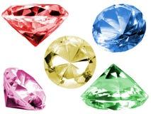 цветастое стекло кристаллов Стоковое Изображение