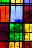цветастое стеклянное окно Стоковое Фото