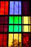 цветастое стеклянное окно Стоковое Изображение RF