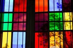 цветастое стеклянное окно Стоковые Изображения RF