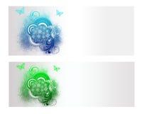 Цветастое флористическое знамя вектора Стоковые Фотографии RF