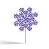 Цветастое цветка lollypop swirly Стоковые Изображения